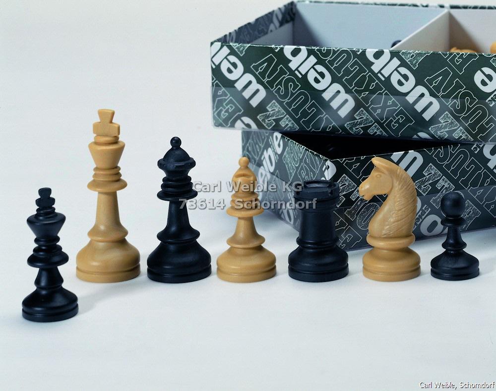 Königshöhe 72 mm Bohemia Staunton Schachfiguren braun